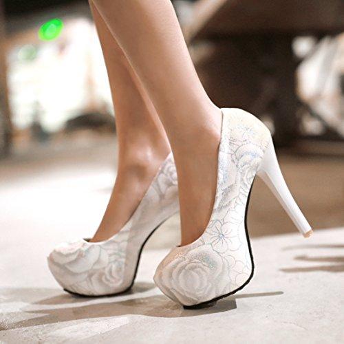 Womens Shoes Dress AIWEIYi Black toe High Heel Round Pump Print dZWxnw8Z