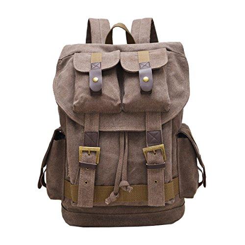 Backpack purpose Business Laidaye Leisure Canvas Bag Brown Multi Travel Men's yqC76