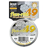 BeadSmith Flex-Rite Beading Wire, 49 Strand .014'' Thick, 30 Foot Spool, 24K Gold Plated