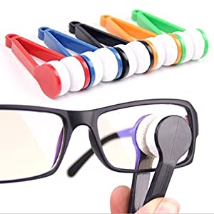Krismile® Hot Sale New 5ps Small Microfibre Glasses Eyeglasses Cleaning Clip Brush Spectacles Sun Easy Sunglasses Cleaner,Mini Sun Glasses Eyeglass Microfiber Brush Cleaner Home Office Easy Travel Pocket friendly size