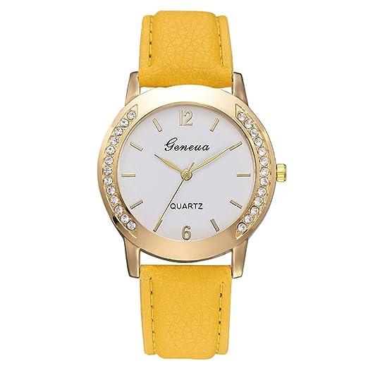 VEHOME Cuero clásico - Ms. Reloj de cuarzo-XR3135-Relojes Inteligentes relojero Reloj reloje de Pulsera Marcas Deportivos: Amazon.es: Relojes