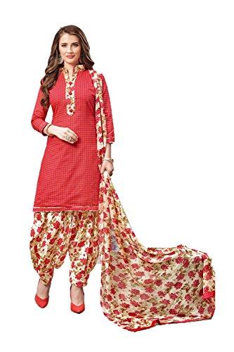 Non Vestito Di cucita Punto Rosso Vestito Daindiashop Indiana Ad usa Kameez Pronto Del Indossare Usura Il Salwar Readymade Le Donne Patiala Per qzw8q1R