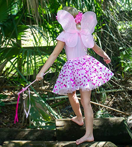 Enchantly Fairy Costume Fairy Wings For Girls Butterfly Costume For Girls 4 Piece Set