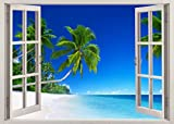 Wall Decal - Faux Window with Tropical Beach - Best Reviews Guide