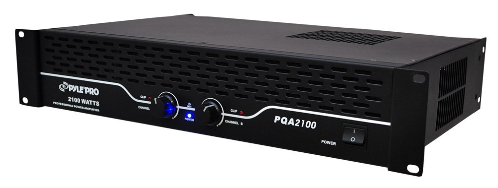 Pyle-Pro 19-Inch Rack Mount 2100W Professional Power Amplifier PQA2100