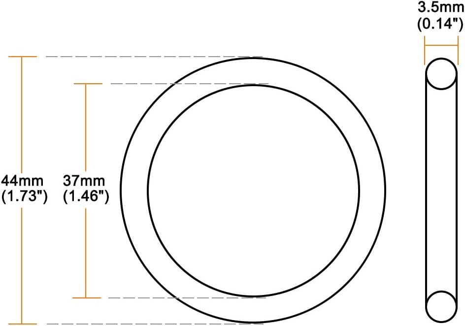 sourcing map Joint torique en caoutchouc fluor/é Joint d/étanch/éit/é 15 mm x 22 mm x 3,5 mm
