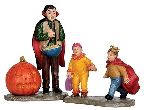 Lemax Spooky Town Village Scaring Trick or Treaters Halloween 2-Piece Figurine Set #52314 -