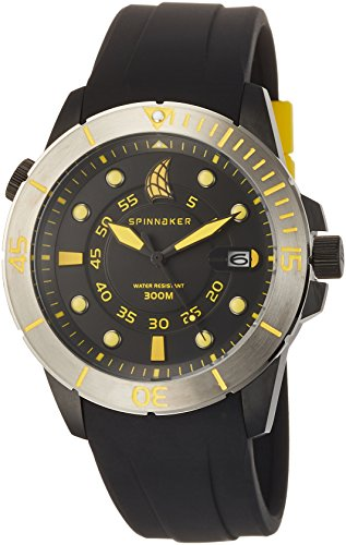 Spinnaker Mens Helium Grey Watch with Grey Silicone Band