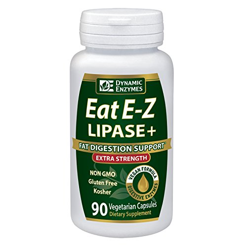 Eat E-Z Lipase+ (90 vegan capsules) – Keto diet, digestive enzyme formula, fat digestion, lipid metabolism, omega fatty acid absorption, cholesterol, ketogenic, weight loss, lipase For Sale
