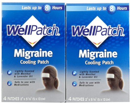 WellPatch Migraine Cooling Headache Pads, 2 pk, 4 each by WellPatch