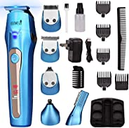 Ceenwes 5 In 1 Mens Grooming Kit Professional Rechargeable Beard Trimmer Hair Clippers Multi-Purpose Mustache