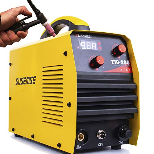 SUSEMSE TIG Welder High Frequency 200Amp Dual Voltage 110/220V Portable TIG Welding Machine DC IGBT Inverter Welder Digital Display Welding Machine TIG200