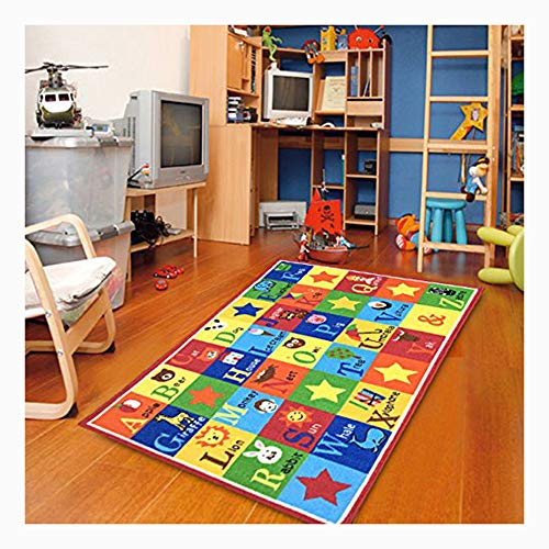 Furnish my Place Kids Rug ABC Animals 3' X 5' Children Area Rug Anti Skid Actual Size 3'3