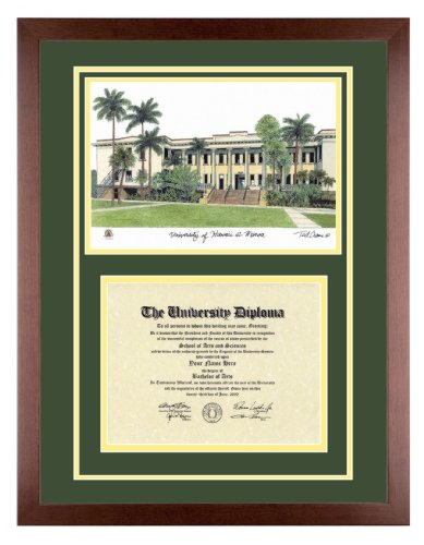Amazon.com - UNIVERSITY OF HAWAII Diploma with Artwork in Classic ...