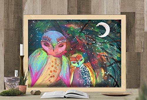 Multimedia Painting (Snoozing Owls Multi-Media Painting)