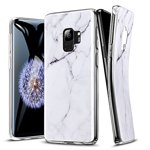 ESR Marble Case Compatible for the Samsung Galaxy S9, Slim Soft Flexible TPU Marble Pattern Cover Compatible for the Samsung Galaxy S9 5.8 inch (Released in 2018), White Sierra