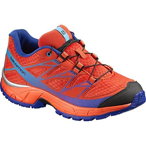 Salomon L39056200, Zapatillas de Trail Running para Niños Naranja (Lava Orange /         Tomato Red /         Blue Yonder)