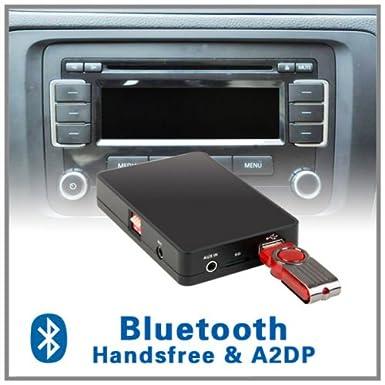 Car Bluetooth Handsfree A2DP CD Changer Adapter For Volkswagen VW
