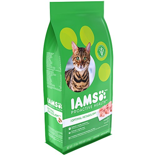 Iams Proactive Health Optimal Metabolism Adult Dry Cat Food With Chicken, 3.5 Lb. Bag