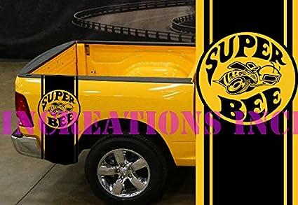 Amazon.com: Super Bee Hemi Dodge Mopar Bed Stripes Truck Decals ...