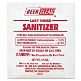 Trusted by and used in breweries throughout North America. - DIVERSEY * Beer Clean Last Rinse Glass Sanitizer, Powder, .25oz Packet, 100/Carton