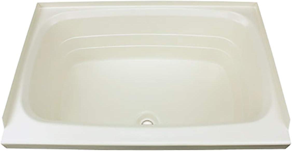 """Bathtub with Center Drain; 24"""" x 38"""" (Parchment)"""