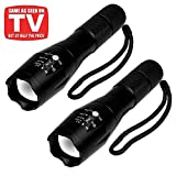 #8: 2 Pcs LED Tactical Flashlight Military Grade Tac Light with 5 Modes & Zoom Function Ultra Bright S3000 Lumens Water Resistant Torch