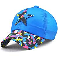 88a4d454441 COOLSOME Kids Lightweight Quick Dry Sun Hat Airy Mesh UV Protection Boys  Girls Baseball Caps