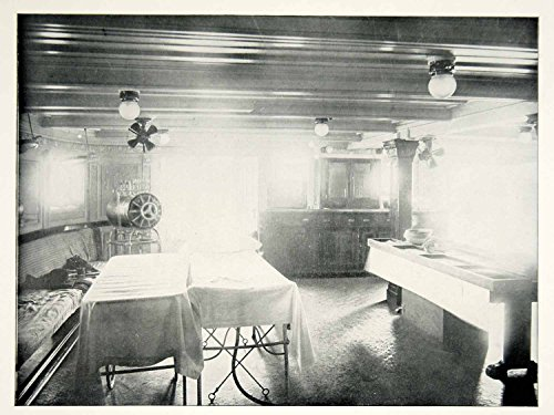 1898 Print Spanish American War Solace Hospital Ship Operating Room Cuba SAW1 - Original Halftone Print
