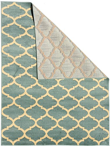 8x10 Area Rug Greyish Turquoise Contemporary Moroccan