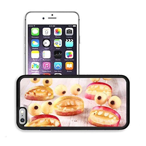 Luxlady Premium Apple iPhone 6 Plus iPhone 6S Plus Aluminum Backplate Bumper Snap Case IMAGE ID: 31202636 Spooky Halloween party favors or decorations made from fresh apples and dough in the form of o