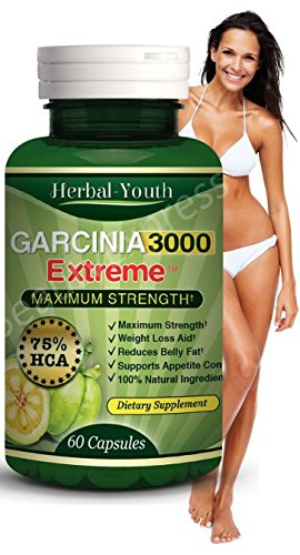 3 Bottles – 3000mg Daily Garcinia Cambogia [HCA 95%] Weight Loss Diet Slim New Garcinia Cambogia Extract