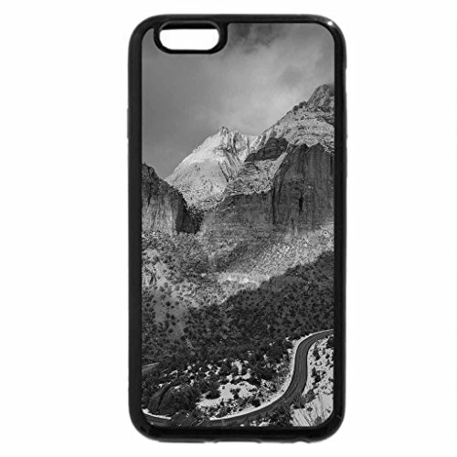 iPhone 6S Plus Case, iPhone 6 Plus Case (Black & White) - A WINTER SPRINKLING TOUCHING MT ZION