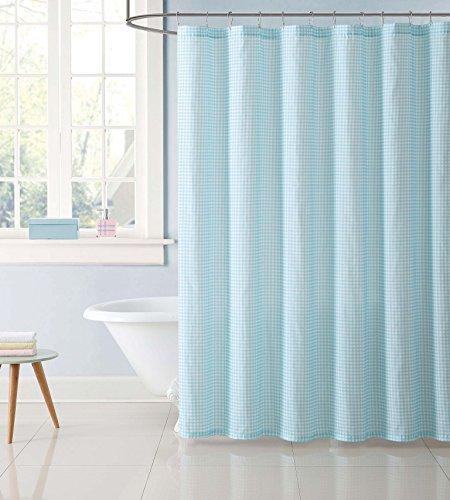 My World SC2328AQ-6200 Shower Curtain Gingham Aqua