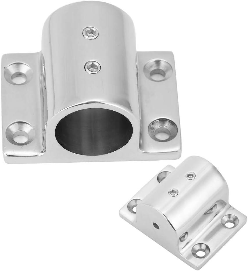 Base di montaggio Suuonee accessori per braccioli marini in acciaio inossidabile 316 Rettangolo 90 gradi Hardware per montaggio su base tubo