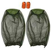 2 Pack Mosquito Repellent Mesh Head Net, T Tersely Face Netting Mask for Bugs, Gnats, No See Ums and Other Insects…