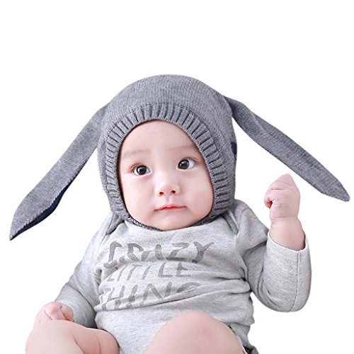 Bunny Ear Hat, Misaky Baby Cotton Beanie Inafnt Costume cap (Cheap Baby Costumes)