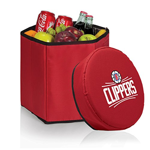 PICNIC TIME NBA Los Angeles Clippers Bongo Insulated Collapsible Cooler, Red by PICNIC TIME