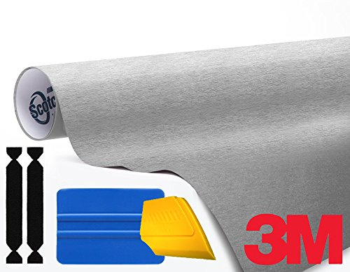 3M 1080 Brushed Aluminum Air-Release Vinyl Wrap Roll Including Toolkit (1ft x 5ft)