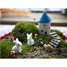 Ginsco 10pcs Miniature Fairy Garden Dollhouse Mediterranean Style DIY kit