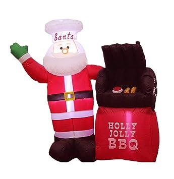 Amazon.com: Adornos de Navidad autohinchables de Papá Noel ...