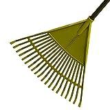 Garden Leaf Rake Tool Lawns a Yards Long Handle Sweep Fall Leaves No