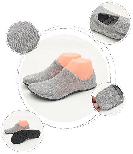 LANSA Women Slipper Socks Warm Thick Home Shoes Socks With Soles Rubber Bottom Non Slip Fun Wear Thin Grey dXBjbPaG