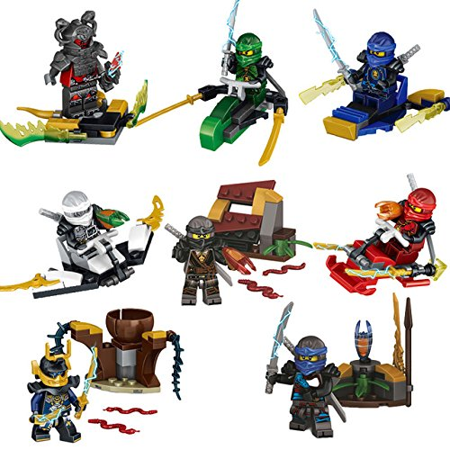 2017 HOT Compatible LegoINGlys NinjagoINGlys Sets NINJA Heroes Kai Jay Cole Zane Nya Lloyd With Weapons Action Toy Figure Blocks