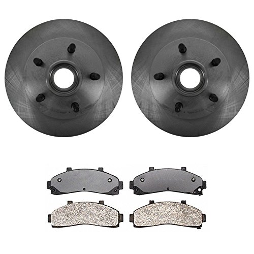 Front Posi Metallic Brake Pads & Rotors Kit for Ford Ranger Mazda 2WD w/ ABS (Mazda B2300 2wd)