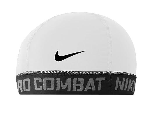 a9f859c4 Nike Pro Combat Banded Skull Cap 2.0 (White/Black, One Size Fits Most):  Amazon.co.uk: Clothing