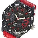 アディダス ADIDAS ニューバーグ クオーツ メンズ 腕時計 ADH3113 ブラック/レッド
