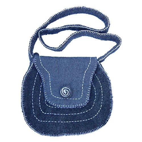 Swirl Grey Felt Bag