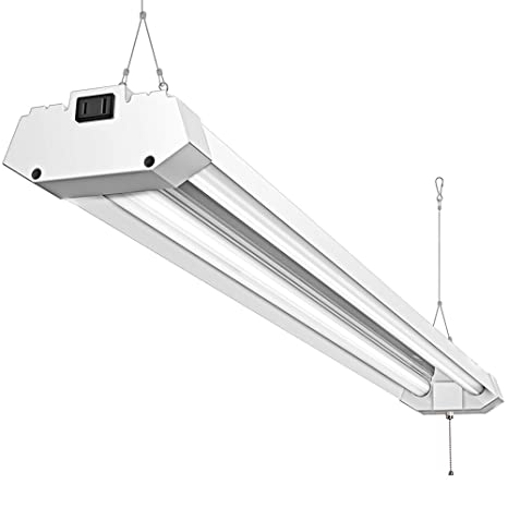 Amazon.com: Linkable 40W 4FT Utility LED Shop Light, Pull Chain ...