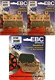 EBC HH Front + Rear Brake Pads (3 Sets) 2007-2014 Yamaha R1 / FA442/4HH + FA174HH
